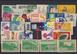 Stamps Czechoslovakia Match box Label Ref 28609