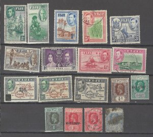COLLECTION LOT # 3176 FIJI 18 ALL CONDITIONS STAMPS 1912+ CV+$23