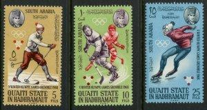 SOUTH ARABIA QU'AITI MI#123-30 1968 Grenoble Olympics Perf Cpl Set OG MNH