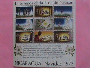 NICARAGUA STAMP: 1972- SC#C821a   CHRISTMAS 1972 -MINT NOT HING S/S SHEET