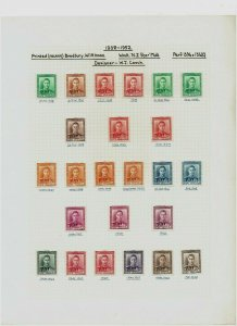 New Zealand: 1938 /51 King George VI definitive study, printings / papers, MLH