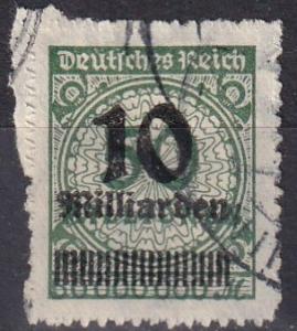 Germany #321  F-VF Used  CV $37.50  Z675