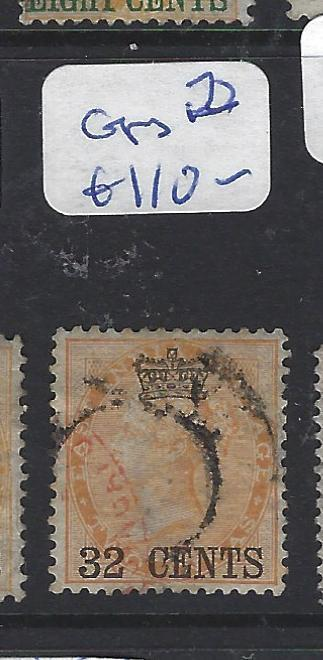 MALAYA STRAITS SETTLEMENTS (P1111B) ON INDIA QV   32C  SG 9   VFU   COPY 2
