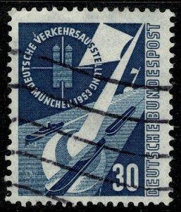 GERMANY 1953 TRANSPORT EXHIBITION MUNICH USED (VFU) SG1096 Wmk.263 P.14 SUPERB