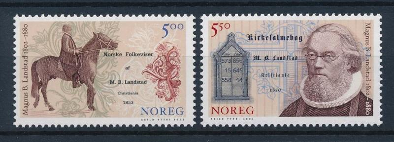 [38321] Norway 2002 Animals Magnus Landstad Horse MNH