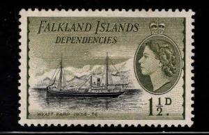 FALKLAND Island Dependencies  Scott  1L21 MH* ship stamp