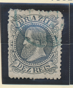 Brazil Stamp Scott #82, Used - Free U.S. Shipping, Free Worldwide Shipping Ov...