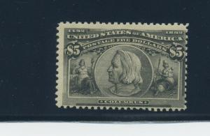 245 Columbian Mint Stamp with PSAG Cert (Stock 245-PSAG-1)