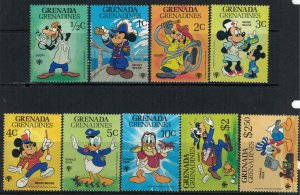 Grenada-Grenadines #350-9* NH  CV $10.50 Disney set & Souvenir sheet