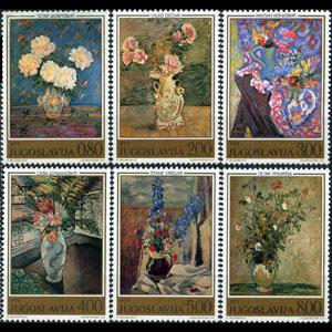 YUGOSLAVIA 1974 - Scott# 1226-31 Paintings Set of 6 NH