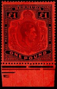 BERMUDA SG121, £1 purple & black/red, NH MINT. Cat £90.