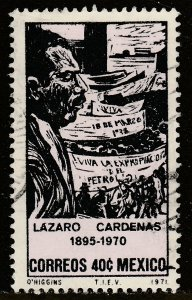 MEXICO 1035 In Memoriam Pres. Lazaro Cardenas. Used. VF.  (477)