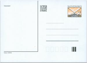 Slovakia Prepaid Postal Card 1997 Postal Motiv