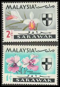 Sarawak 228-229 Mint VF H