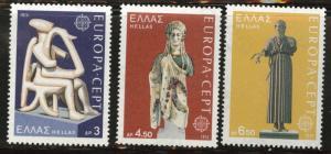 GREECE Scott 1109-1111 MNH** 1974 Europa stamp set