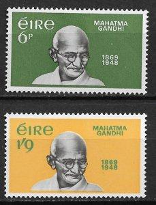 1969 Ireland 275-6 Mahatma Gandhi C/S of 2 MH