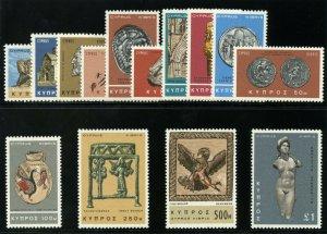 Cyprus 1966 QEII Definitives set complete superb MNH. SG 283-296. Sc 278-291.