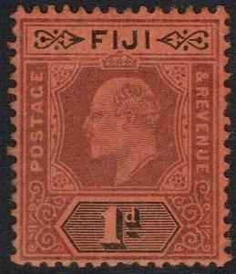 FIJI 1903 KEVII 1D WATERMARK CROWN CA