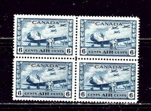 Canada C7 MNH 1942 Block of 4