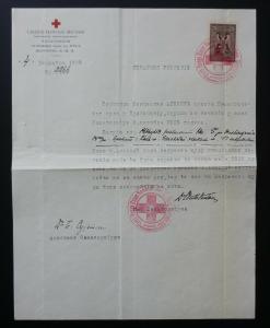 Slovenia 1929 Yugoslavia Red Cross Cancel Document Revenue Stamp - Serbia ! N1