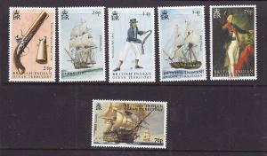 BIOT-Sc#297-302-unused NH set-Ships-Battle of Trafalgar-2005-please note there i