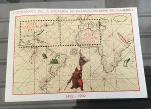 Vatican City Sc# 903 MNH Souvenir Sheet - 1992 Discovery America 500th Anniv.