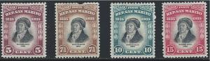San Marino SC169-172 Melckhiorre Delfico-Historian (H)1935