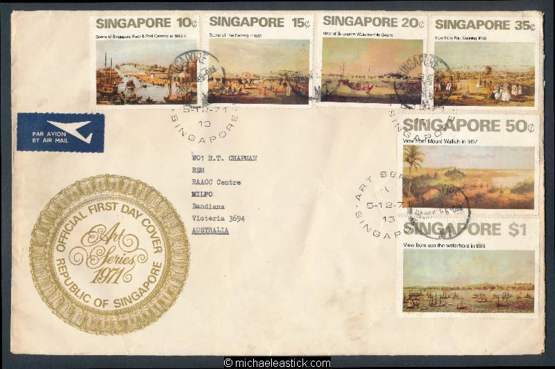 Singapore 2013 greetings children sign language strip mnh c1 hipstamp singapore 1971 fdc art paintings mailed to small town in australia sc144 149 m4hsunfo