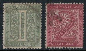 Italy #24-5  CV $5.00  Nice stamps!