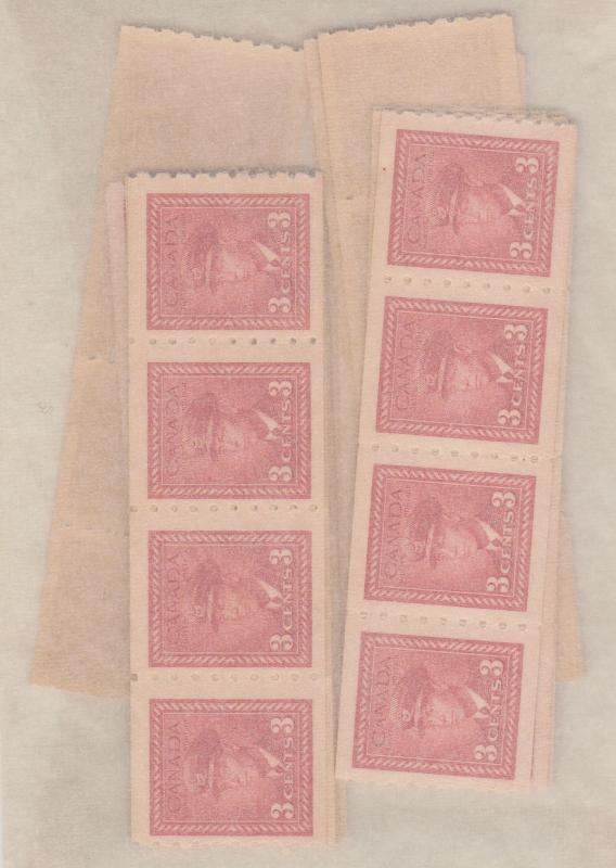 Canada USC #265 Mint (100) In Strips of Four or More F-VF NH Cat. $319.