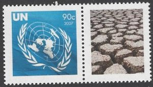 United Nations 939 Climate Change 2007 Personalized Single Stamp
