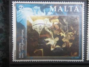 MALTA, 1998, used 6c, Christmas, Scott 958