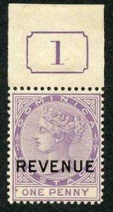Dominica SGR4 1d Lilac wmk Crown CA U/M