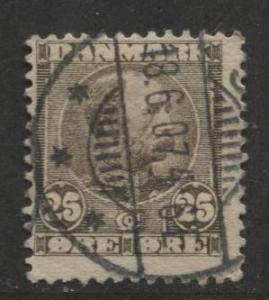 Denmark - Scott 67 - King Christian IX Issue -1904 - Used - Single 50o Stamp