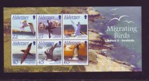 Alderney Sc 214a 2003 birds Seabirds stamp sheet NH