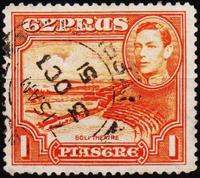 Cyprus.1938 1pi S.G.154 Fine Used