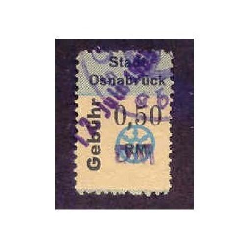 Germany - Osnabruck 0,50 DM Municipal Revenue Stamp