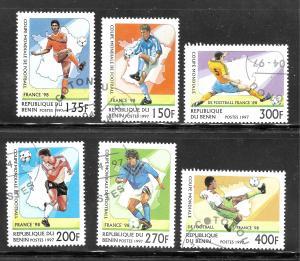 Benin 1997 SC# 966-971