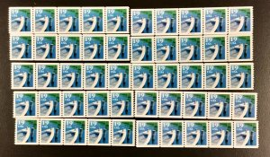 2529 Fishing Boats coils 10 strips  of 5 PNC #A2424 19 c stamps Face $9.50
