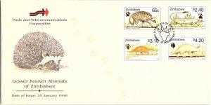 Zimbabwe, Worldwide First Day Cover, Animals