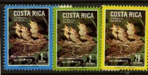 Costa Rica C747-9 MNH Birds, Year of the Child