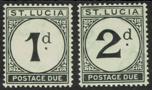 ST LUCIA 1933 POSTAGE DUE 1D AND 2D MNH **