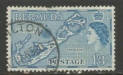 BERMUDA 156 VFU MAP 259A-7