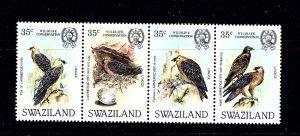 Swaziland 427 MNH 1983 Bearded Vulture strip of 4