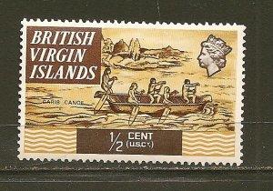 British Virgin Islands 206 Carib Canoe Mint Hinged