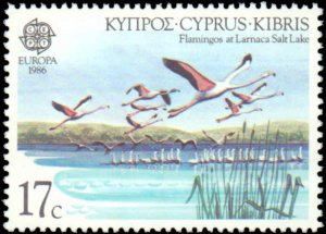 Cyprus #669-670, Complete Set(2), 1986, Europa, Animals, Birds, Never Hinged