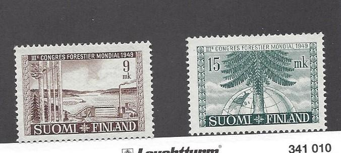 Finland, 281-82, Forestry Congress Singles,  **Hinged**