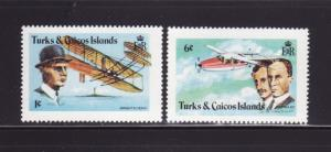 Turks and Caicos Islands 347-348 MNH Planes, Wright Brothers