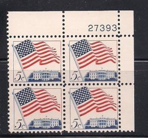 US Plt Blk Sc# 1208 Flag MNH #27393 UR