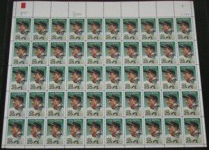 US #2417, 25¢ LOU GEHRIG YANKEES BASEBALL  Mint sheet of 50